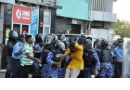 Mariya Didi is beaten during a peaceful protest 8.2.12